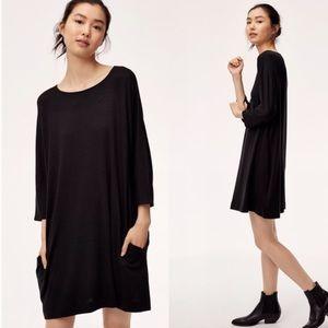 Aritzia Wilfred Free Cober Black Dress